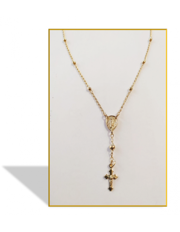 18kt gold Filled One Decade Necklace Rosary