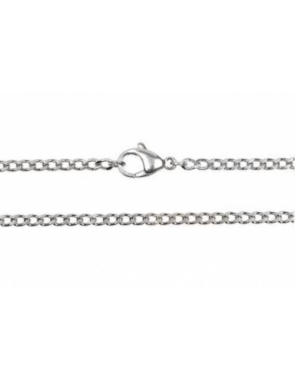 50cm Stainless Steel Curb Link Chain - 2mm link