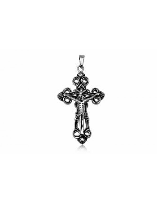 305 Stainless Steel Crucifix - 55mm long