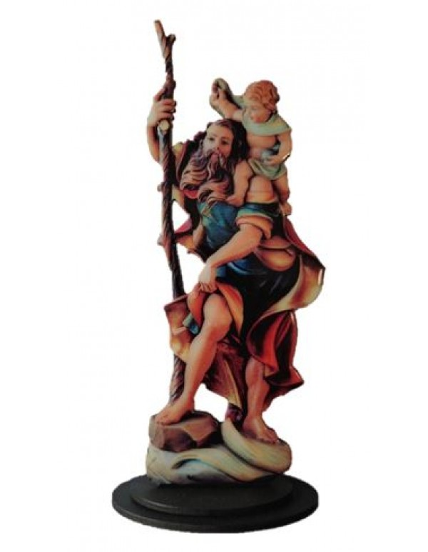 21.5cm St Christopher Figure Domed statue/stand