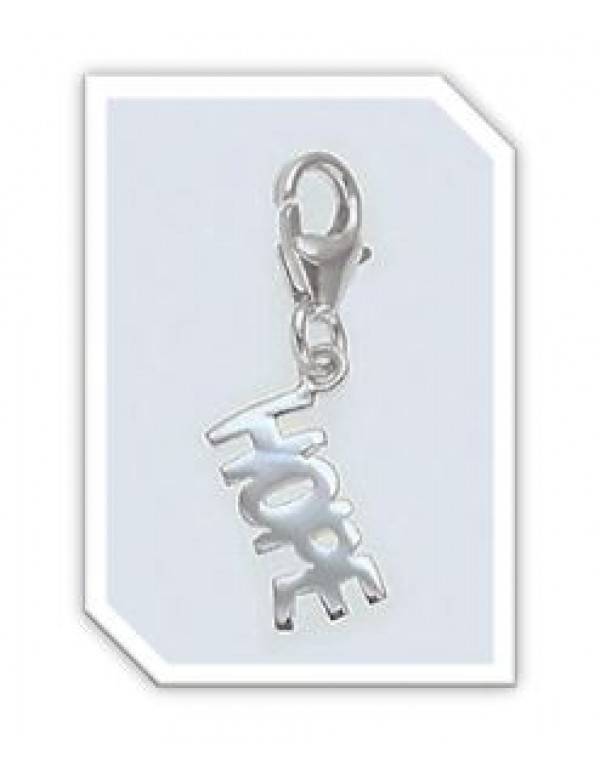 HOPE charm in Sterling silver for charm bracelet