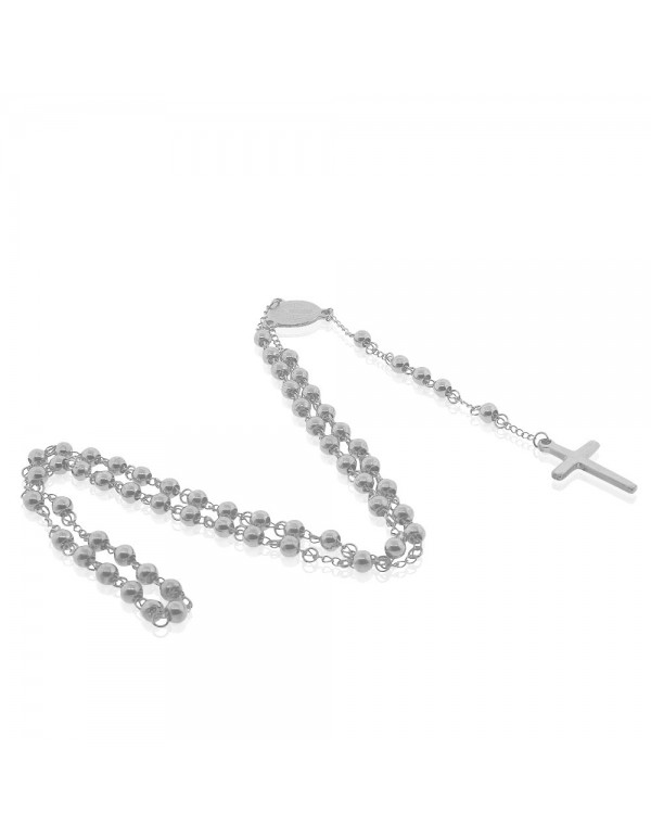 Stainless steel 3mm bead Necklace Rosary