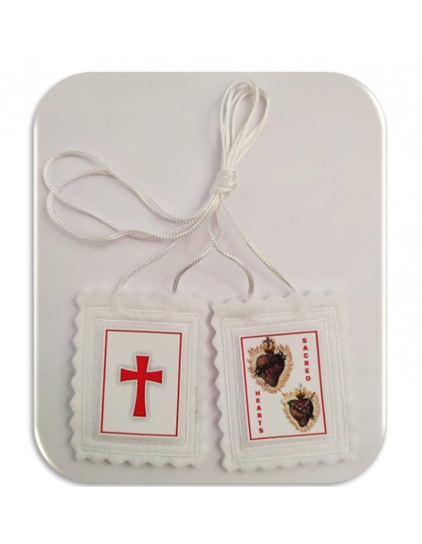 Scapular of the Sacred Hearts of Jesus & Mary