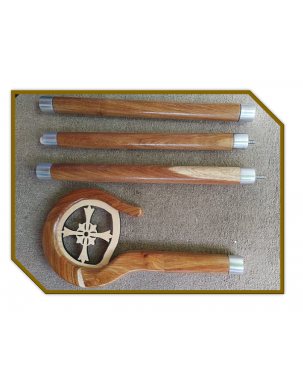 1.7meter Wooden Crozier and Case