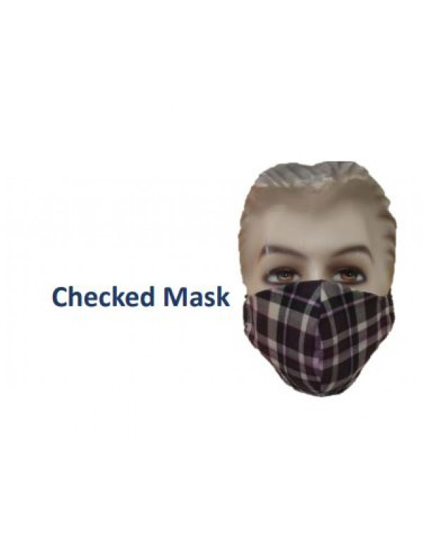Checks Designer Face Mask - Washable / Reusable