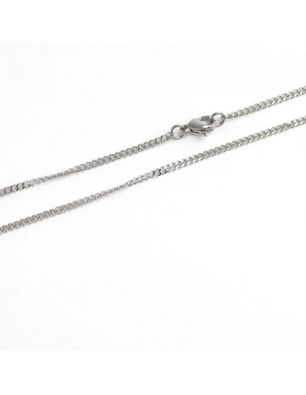304 Stainless Steel curb link Chain - 2mm - 50cm