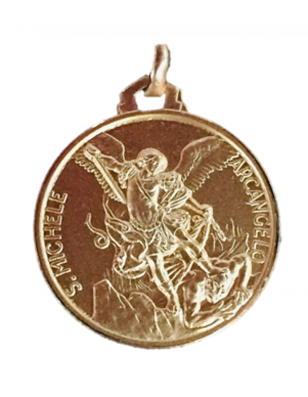 16mm - 9ct Gold St Michael the Archangel Pendant