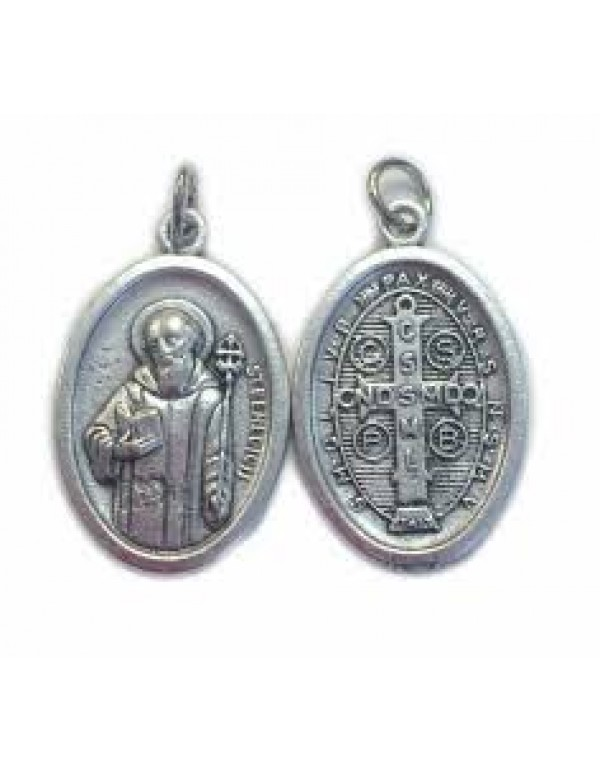 St Benedict Medal - Small oval - 12mm