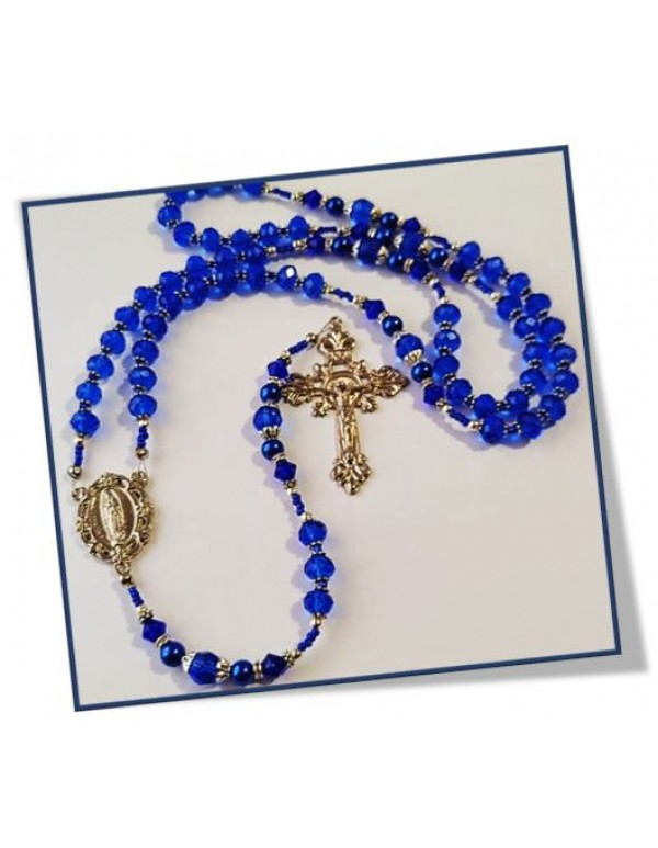 Birthstone rosary - September / Sapphire - Limited Edition