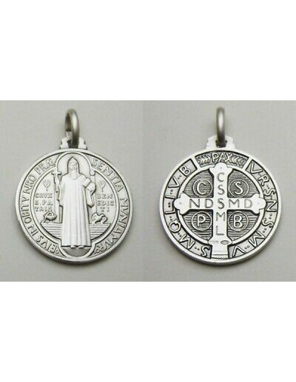 Small - 8mm Sterling Silver St Benedict Medal