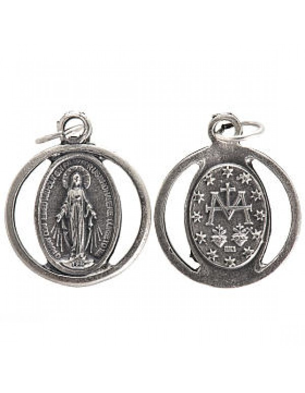Our Lady of the Miraculous Medal Sterling Silver Pendant