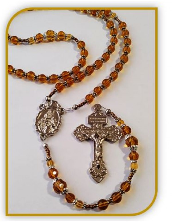 Birthstone Rosary - November  / Topaz - Limited Edition