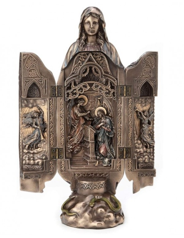 Our Lady of Grace Polyptych Sculpture of Annunciation - Veronese Design