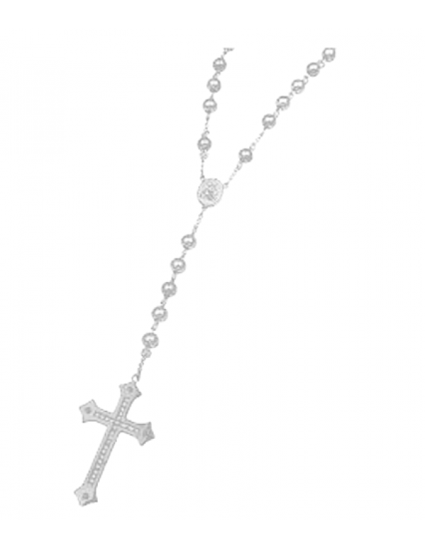 Stainless Steel Rosary - 8mm bead