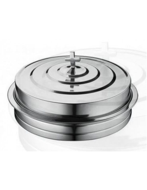72 hole with lid polished Stackable Polished Aluminium Communion Tray