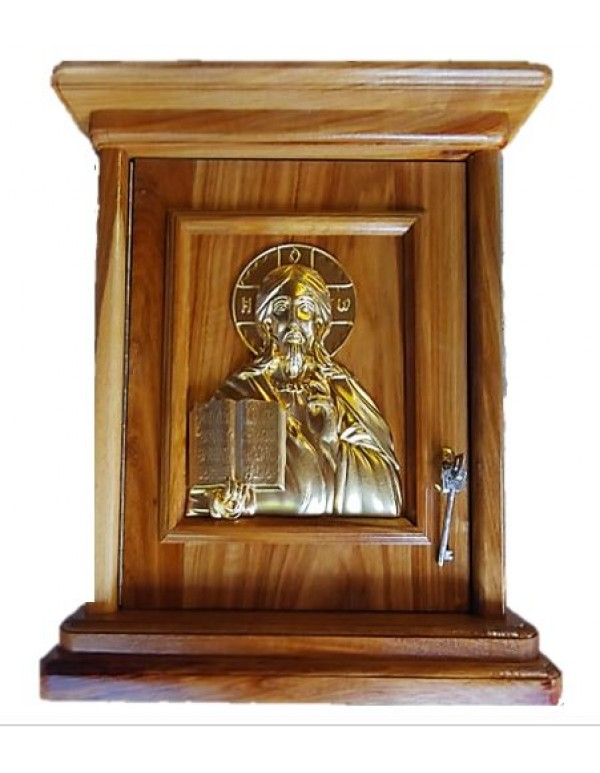 Wooden Tabernacle with Jesus the Teacher Relief in gold