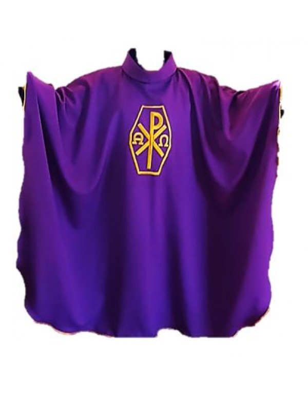 Purple Chasuble and Stole - Px & Alpha/Omega