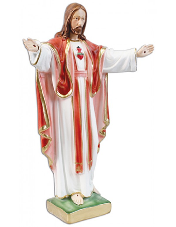 41cm Sacred Heart Statue with Open Arms