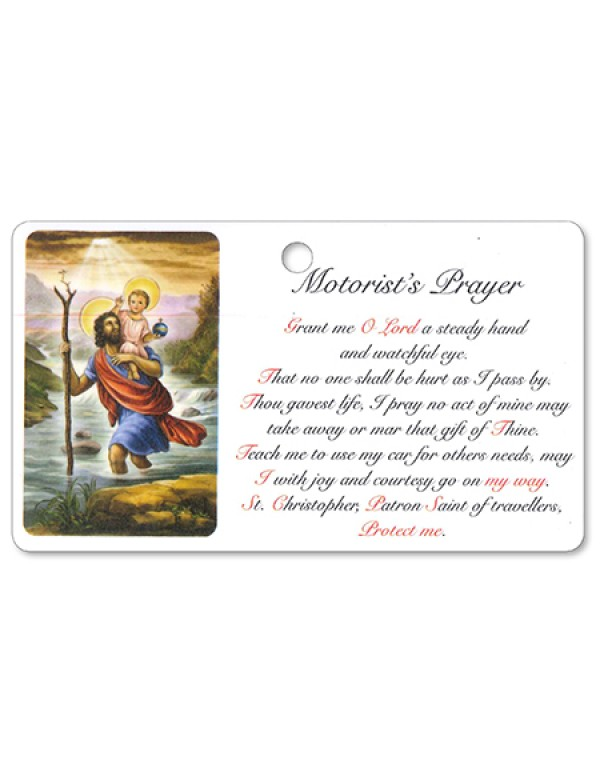 Motorist Prayer - St Christopher