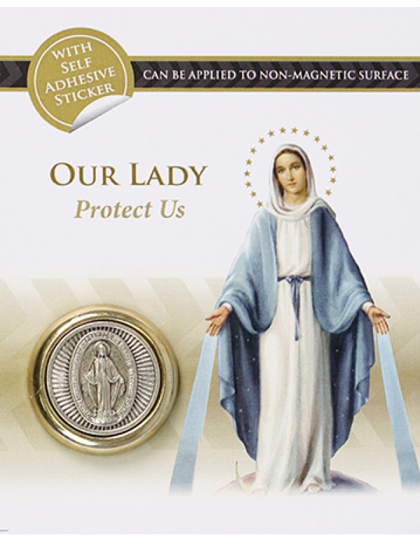 Our Lady of Grace  Two Tone Magnetic Car Plaque