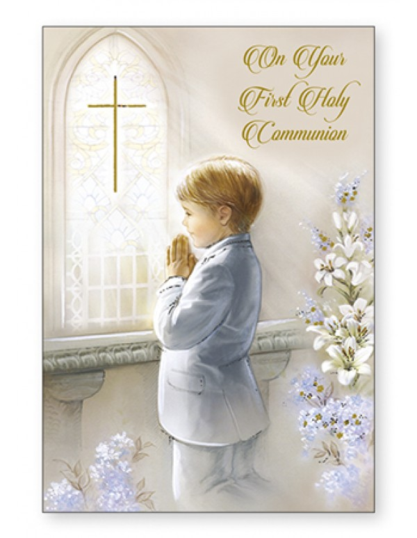 On your First Holy Communion Greeting Card - Boy