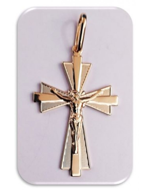 18kt gold filled 4cm Triangular based Crucifix