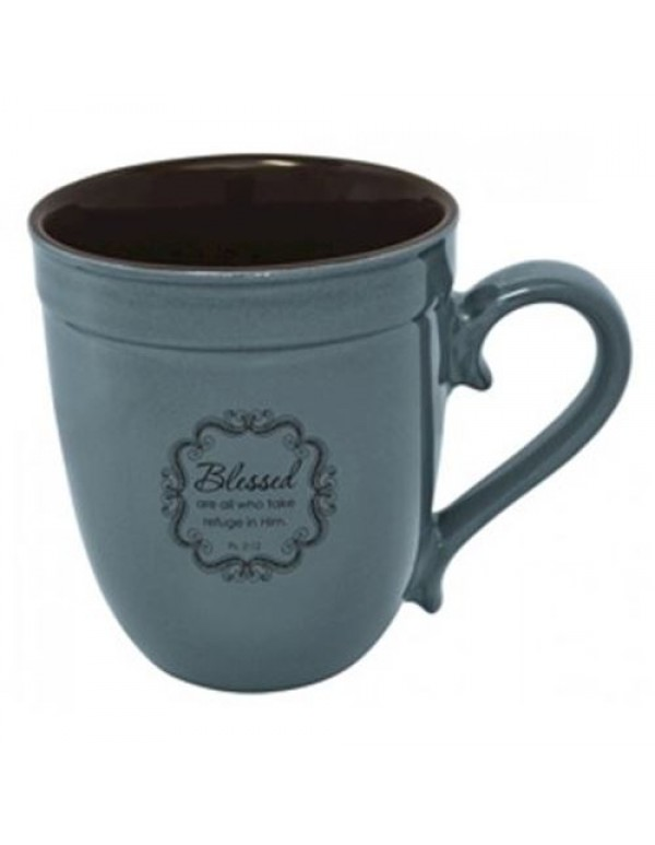 Blessed are those who take refuge in Him  Psalm 2:12 - Mug