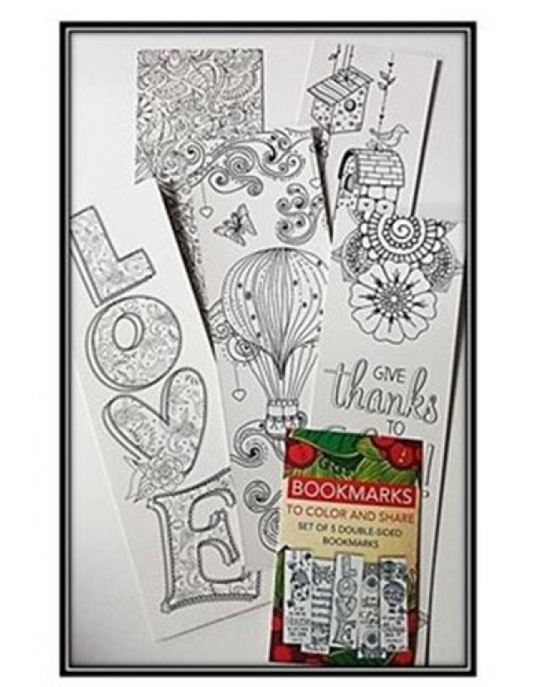 Colour your Own Set of 5 Bookmarks