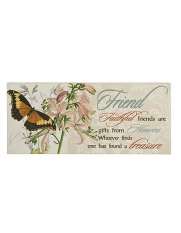 Friend wooden wall plaque