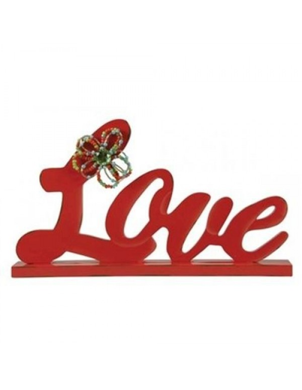Love - 17cm tall Wooden words for Table