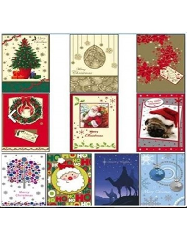 10 card Pack & Envelopes  - Christmas Cards