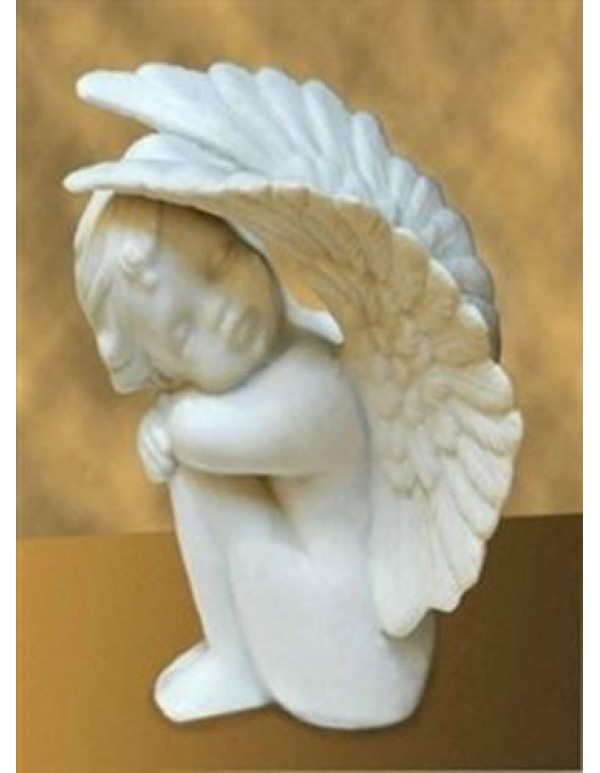 14cm Sitting Marble Angel statue