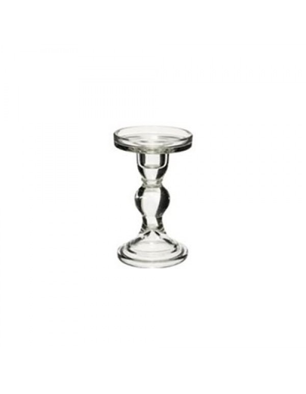 14cm x 7cm - glass pillar candle holder