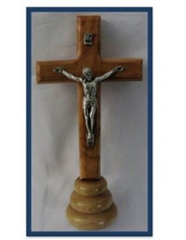 15.5cm Olivewood Crucifix from Jerusalem - Holy Land