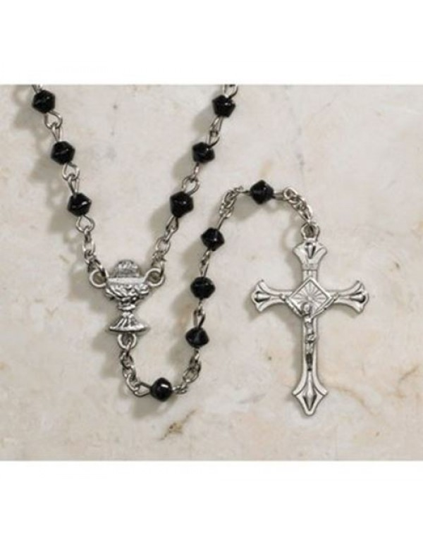 1st Holy Communion - Black Diamond Rosary