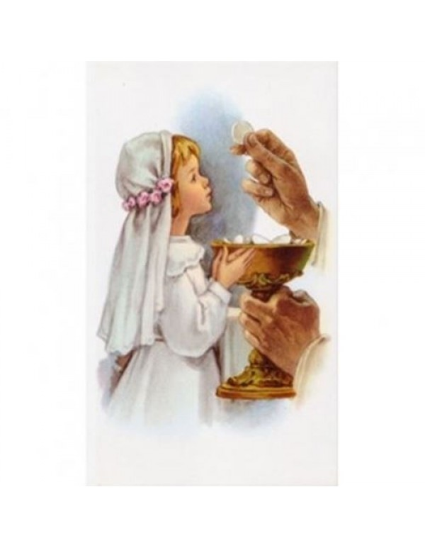1st Holy Communion card - Girl