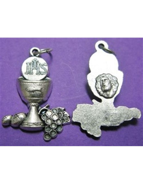 1st Holy Communion chalice  and grapes charm medal