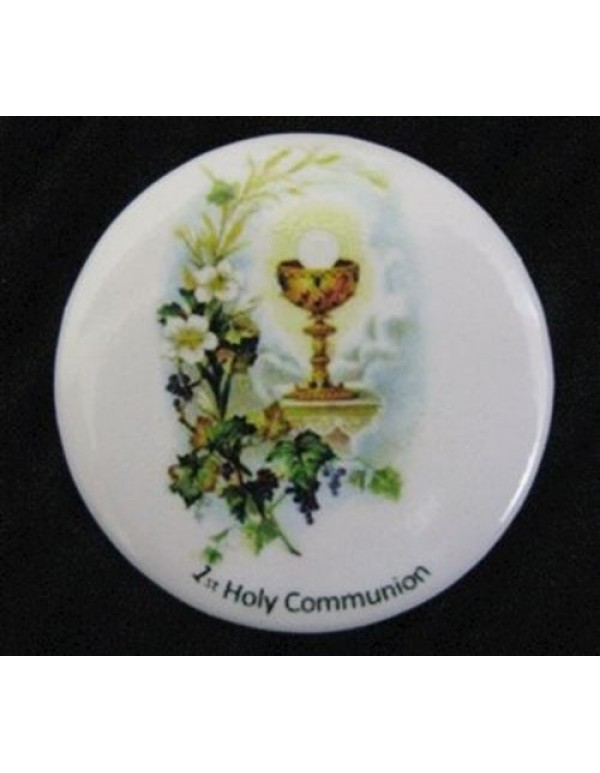 1st Holy Communion Chalice Button Pin