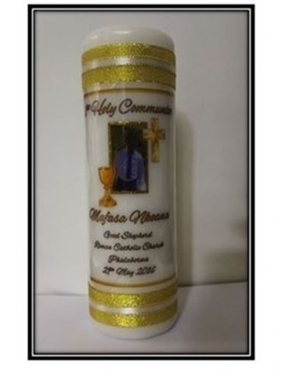1st Holy Communion Chalice Candle