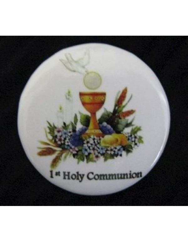 1st Holy Communion Dove Button Pin