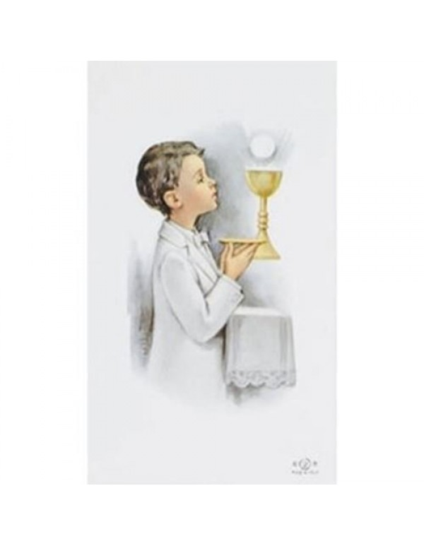 1st Holy Communion Holy Blank Card - Boy