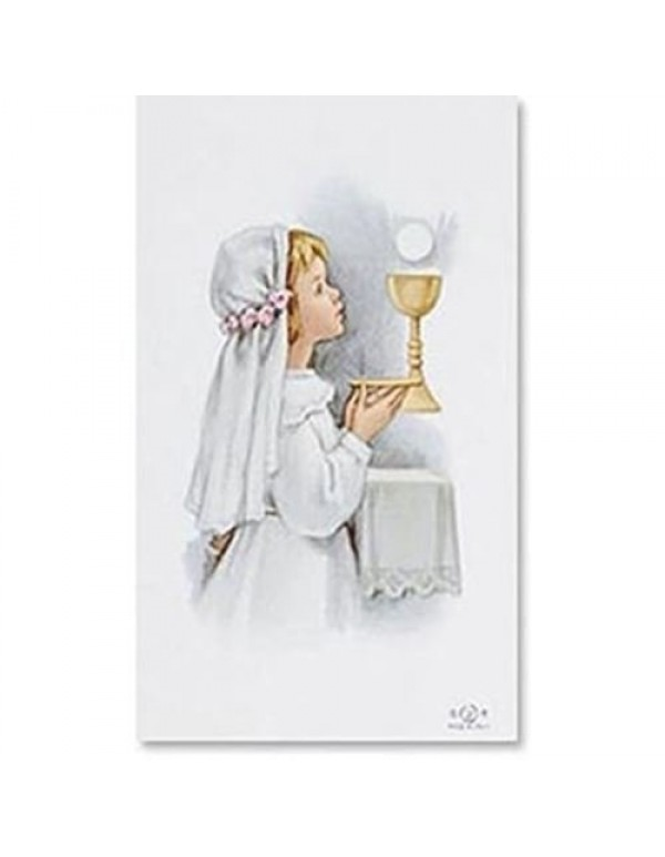 1st Holy Communion Holy Blank Card - Girl