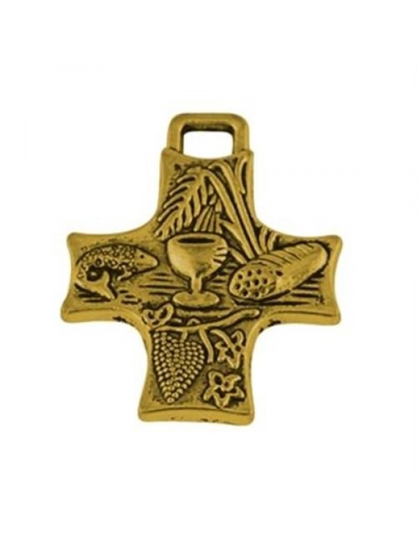 1st Holy Communion Symbols Cross 35mm in gold