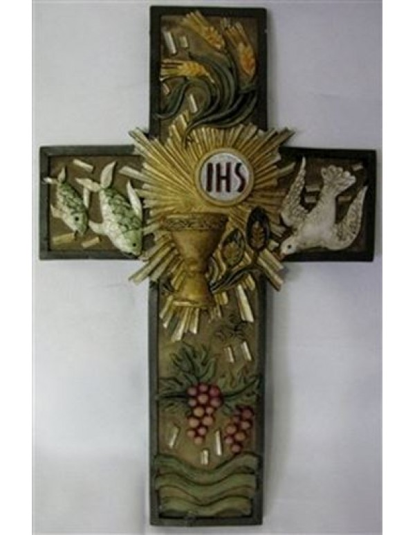 1st Holy Communion symbols wall cross