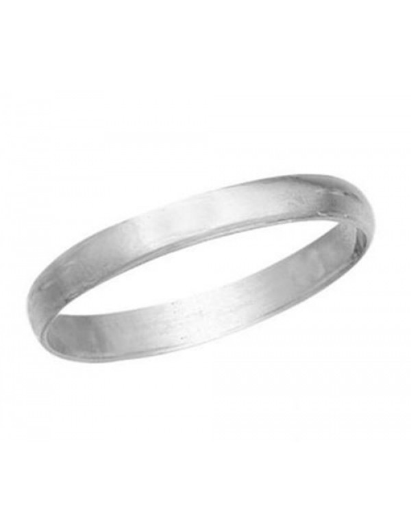 3mm Wide Sterling Silver Wedding Band