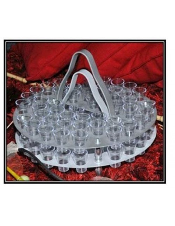 48 Glass - Stack-able Aluminium Communion Tray