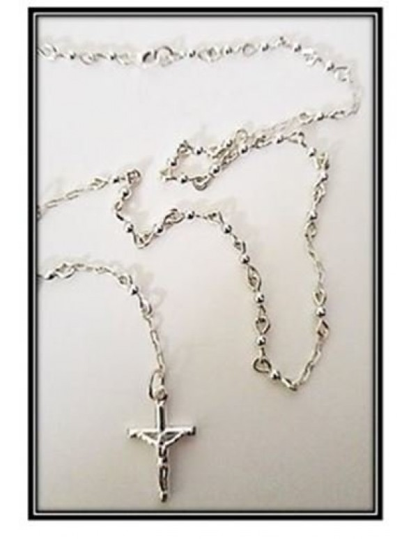 4mm Sterling Silver Rosary
