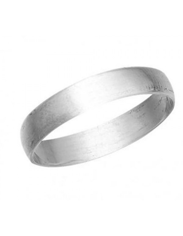 4mm wide Sterling Silver Wedding  Band
