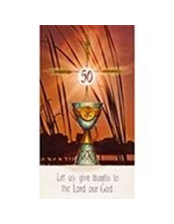 50th Jubilee Holy Card