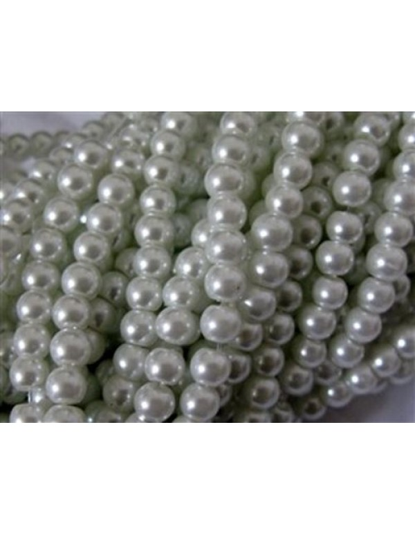 6mm White Faux glass Pearls (60)